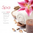 Spa setting in brown tone — Stock Photo