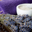 Spa set with lavender - Lizenzfreies Foto