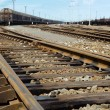 Rusty railway junction - Stockfoto