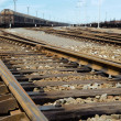 Rusty railway junction - Stock Photo