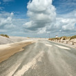 Windy coastal road — Stock Photo