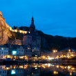Night view on the Dinant - Stock Photo