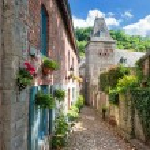 Narrow street in old european town — Stock Photo #12727723