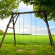 Stock Photo: Lone swing seat