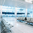 Waiting area in airport terminal - Stock Photo