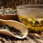 Hot green tea — Stock Photo