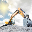 Medium sized excavator - Stockfoto