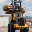 Skidder hauling logs - Stock Photo