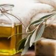 Olive oil soap - Stock Photo