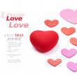 Love and hearts — Stock Photo