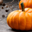Royalty-Free Stock Photo: Autumn still-life with pumpkins