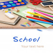 Colorful school supplies - Stock Photo