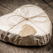 Heart shaped gift - Stock Photo