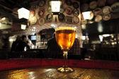 Glass of fresh beer — Stock Photo