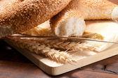 крупный план на традиционный хлеб — Стоковое фото