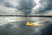 雨季停车 — 图库照片