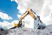 Medium sized excavator — Stock Photo