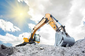 Medium sized excavator — Foto Stock
