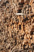 Wall of logs — Stock Photo