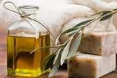 Olive oil soap — Stock Photo