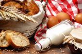 Prima colazione tradizionale campagna — Foto Stock