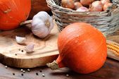 Fall still-life with pumpkins — Stock Photo