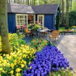 Flower shop in Keukenhof Gardens, Lisse, Netherlands - Foto Stock