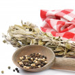 Herbs of French province. Sage - Stock Photo