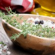 Sea salt with herbs — Stock Photo