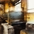 Last century rail car interior - Stock Photo