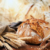 Freshly baked traditional bread — Stockfoto