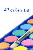 Colorful paints — Stock Photo