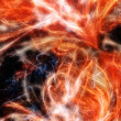 Abstract fractal background. Fire Rage — Stock Photo