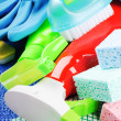 Colorful cleaning products - Stock Photo