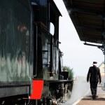 Historical steam train locomotive — Stock Photo