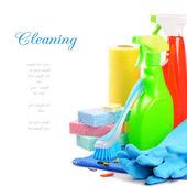 Produtos de limpeza coloridos — Foto Stock