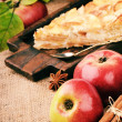 Piece of homemade apple pie - Stock Photo