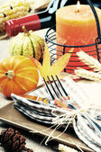 Thanksgiving table setting — Stock Photo