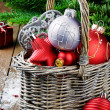 Various Christmas decorations - Stock Photo