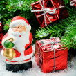 Santa Claus with gifts - Stock Photo