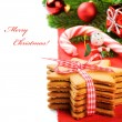Stock Photo: Christmas gingerbread cookies in festive setting