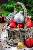 Various Christmas decorations — Stock Photo