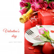 Stock Photo: St Valentine's menu concept
