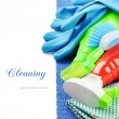 Stock Photo: Colorful cleaning products