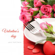 St Valentine&#039;s menu concept - Stock Photo