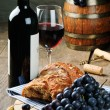 Red wine and grape - Stock Photo