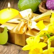 Easter setting with gift box — Stock Photo #20356893