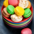 Colorful French macaroons — Stock Photo #20953301
