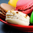Colorful French macaroons - 图库照片