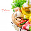 Foto de Stock  : Fresh cooking ingredients
